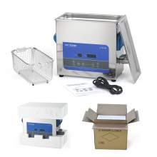 1.6GAL 6L 0.22CF Heating Ultrasonic Cleaners150W