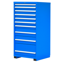 "Industrial Modular Drawer Cabinet 10 Drawers 28 1/4"" x 28 1/2"" x 60"""
