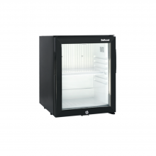 1 cu ft Glass Door Mini Fridge Silent beverage cooler