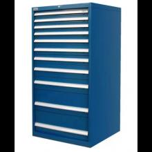 "Industrial Modular Drawer Cabinet 11 Drawers 28 1/2"" x 28 1/2"" x 59"""