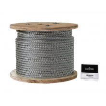 "Galvanized Cable 3/8"" x  250' Capacity 2880 Lbs 7x19"