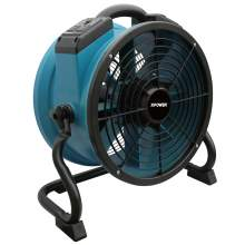 XPOWER X-34AR Variable Speed Sealed Motor Industrial Axial Air Mover Blower Fan with Power Outlets - Blue