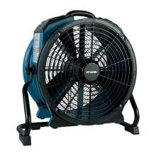 XPOWER X-47ATR Variable Speed Sealed Motor Industrial Axial Air Mover Blower Fan with Timer and Power Outlets