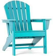 Polywood Adirondack Chair Poly Lumber Plastic Adult-Size Tiffany Blue