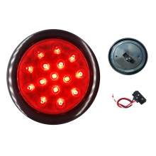4 Inch Round Truck Trailer Stop Turn Tail Light with Grommet and Plug