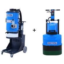 """Best Combination of 21"""" Concrete Grinder & 2 Motor Dust Extractor"""