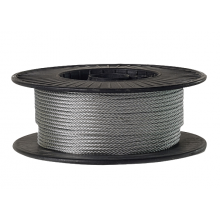 "Galvanized Cable 3/16"" x 500' Capacity 740 Lbs 7x7"