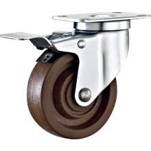 """5"""" Top Plate Swivel With Brake 280℃ High Temperature Caster 287 LBS"""