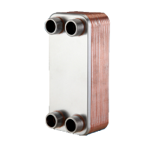 60 Plates 1'' NPT Copper Brazed Plate Heat Exchanger