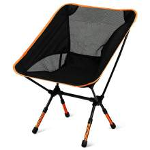 Ultralight Portable Backpacking Adjustable Travel Camping Chair Orange