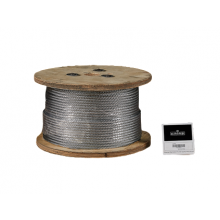 "Galvanized Cable 1/4"" x 500' Capacity 1400 Lbs 7x19"