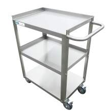 "Standard Duty Stainless Steel 3 Shelf Utility Cart 18 1/4"" x 27"" x 33"""