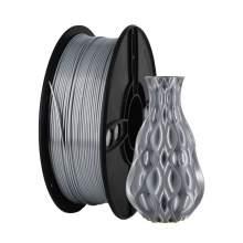 1.75mm PLA SILK Silver Filament 1kg/2.2Lbs for 3D Printer