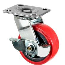 """6"""" Heavy-Duty Swivel With Brake Plate Caster 900 Lb Load Rating"""