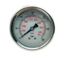P1 2.5 Inch Pressure Gauge 1/4 Npt 0-850Psi/0-60Bar Back Entry SS304