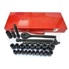 """1/2""""dr Drive 24 Pieces Black Ratchet & Socket Set"""