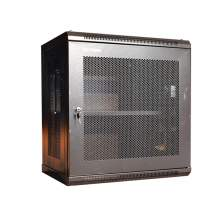 """18U 17.7"""" Perforated Wall Mounted Cabinet With 2fans And 1shelf"""