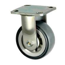 """8"""" Light-Medium Duty Rigid Plate Caster, 600 lb. Load Rating"""