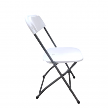 White Plastic Folding Chair With Metal Frame Wedding Banquet Seat