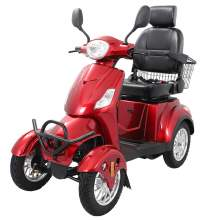 Heavy Duty Mobility Scooter With Four Wheels And Rear Basket
