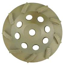 "NED 7"" x 7/8""-5/8"" Single Row Standard Turbine (Cup Wheel)"