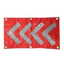 "10 x18"" Red Safety/Emergency Flashing LED Chevron Arrow Mats"