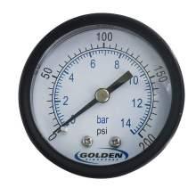 "Industrial Pressure Gauge 2"" 0 to 200 psi/bar"