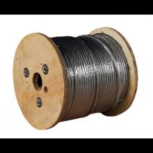 "Galvanized Cable 3/8"" x 500' Capacity 2880 Lbs 7x19"