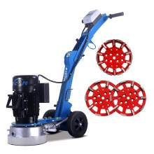 10'' Edge concrete floor grinder & 3 x diamond grinding heads