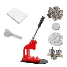 """2.28"""" Red Button Maker Machine With Acrylic Cutter 500PCS Buttons"""