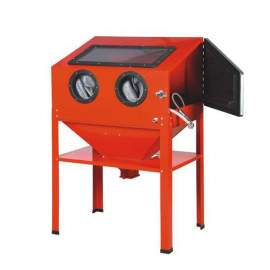 Floor Abrasive Blast Cabinet with Glass Viewing Windows Bench Top