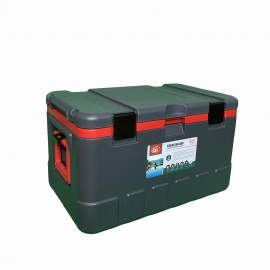 79Qt Grey Ice Chest Cooler Red Inner Box Grey Lid