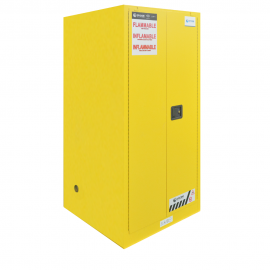 "FM Approved 60gal Flammable Cabinet 65x 34x 34"" Self-closing Door"