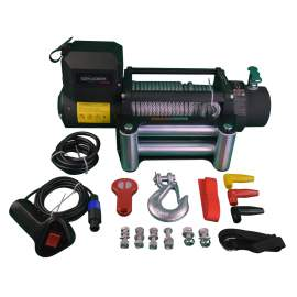 12000 Lb Capacity Steel Cable Car Electric Winch 12 Volt DC Powered