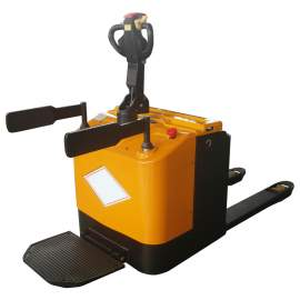 """Electric Powered Rider Pallet Jack Truck 3300 Lb. Cap. 27"""" X 45"""" Fork"""
