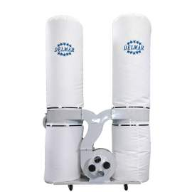 """Dust Collector, 5HP, 2550 CFM, Heavy Duty, 135 GAL, 4"""" Inlet, 220V, 3PH, Made In Taiwan"""