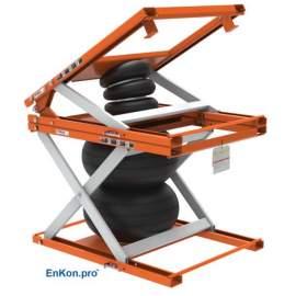 EnKon Modular 2000lb Capacity A-Series Air Scissor 30˚ Tilt Table (Tilt+Lift Only)
