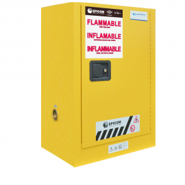 """FM Approved 12gal Flammable Cabinet 35x 24x 19"""" Self-closing Door"""