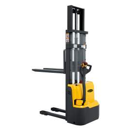 """Fully Powered Electric Stacker and 2640lbs Cap. 98"""" Height Fixed Forks"""