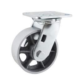 "5"" Swivel Plate Caster 700lb Capacity Cast Iron"