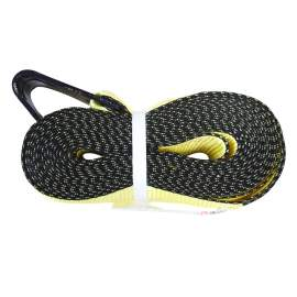 """Lashing Strap with Flat Hook Winch Strap 4"""" x 27' 16200lbs"""