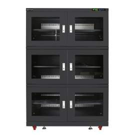 Electronic Dry Cabinet 1250L 6 Door 20%-60%RH Humidity Storage Cabinet