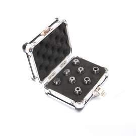 "ER16-8PCS(1/8""-3/8"") Precision Spring Collet  Aluminum alloy box"