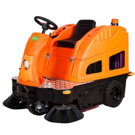 "55"" Ride-On Floor Sweeper 40GAL Dustbin"