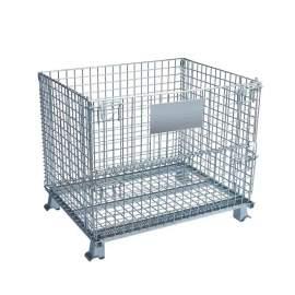 "Folding Wire Container 48""L x 36""W x 40""H 4000 Lb"