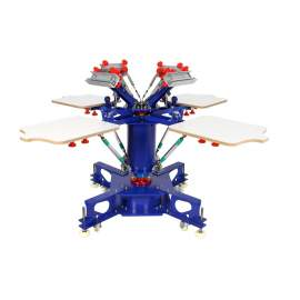 4 Color 4 Station XY Micro Registration Screen Printing Press