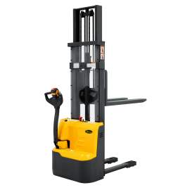 """118"""" High Fully Powered Electric Stacker with 2200lbs Cap Fixed Forks"""