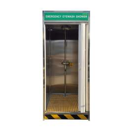 Stainless Steel Emergency Cubicle Shower Decontamination Booth