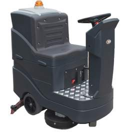 """26"""" 19Gal Double Brushes Path Auto Ride On Floor Scrubber With Battery 2*12V 140AH"""