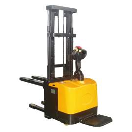 "Full Electric Powered Lift & Drive Straddle Stacker 4400 Lb. 118"" Lift"